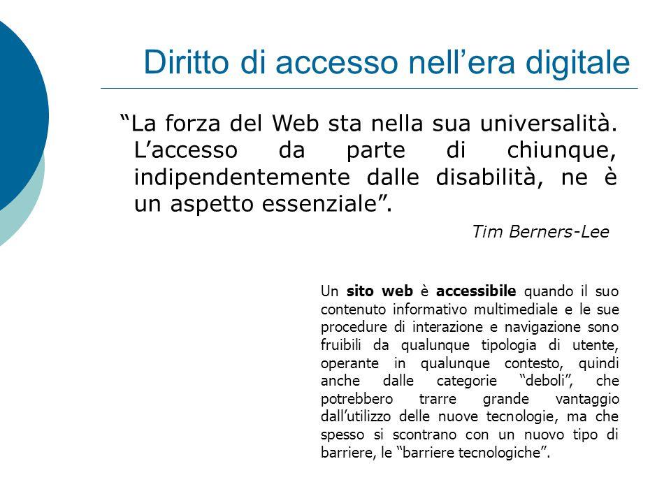 La forza del Web sta nella sua universalità.