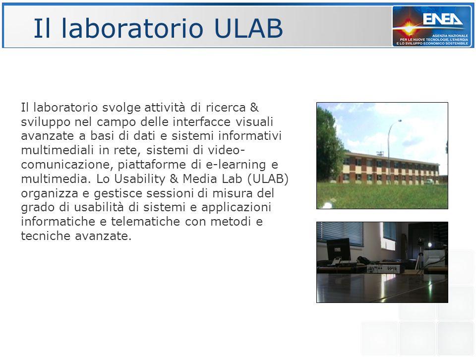 Il laboratorio ULAB Il laboratorio svolge attività di ricerca & sviluppo nel campo delle interfacce visuali avanzate a basi di dati e sistemi informativi multimediali in rete, sistemi di video- comunicazione, piattaforme di e-learning e multimedia.