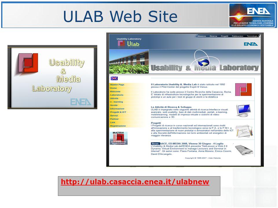ULAB Web Site http://ulab.casaccia.enea.it/ulabnew