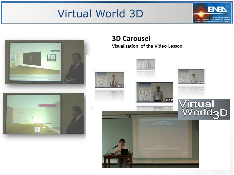 3D Carousel Visualization of the Video Lesson.