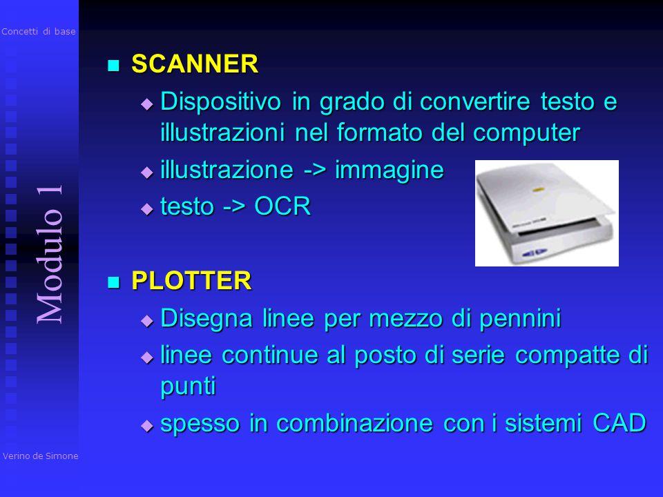 A getto d'inchiostro A getto d'inchiostro  stampe di qualità elevata  risoluzione: tra 300 e 2400 dpi  stampa a colori Laser Laser  raggio laser 