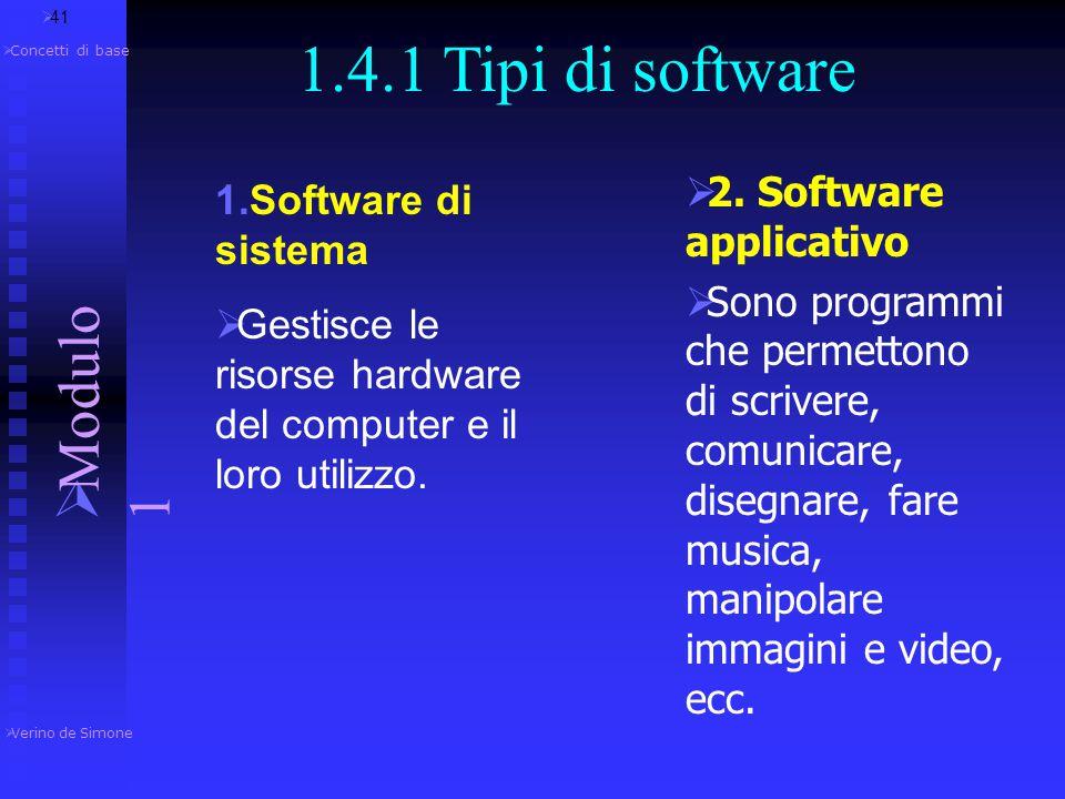 Software  Un Software è un programma scritto in un linguaggio adatto ad essere compreso dalla CPU.  Esso contiene le istruzioni che vengono eseguite