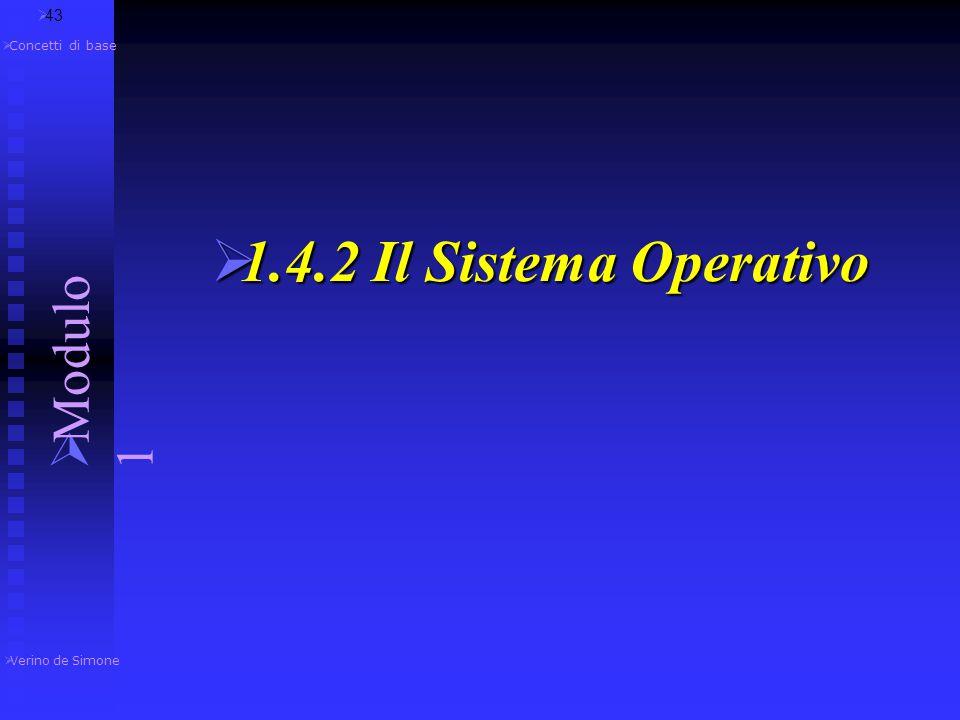  Verino de Simone  Modulo 1  Concetti di base software di sistema programmi di boot Sistema Operativo  Del software di sistema fanno parte i progr
