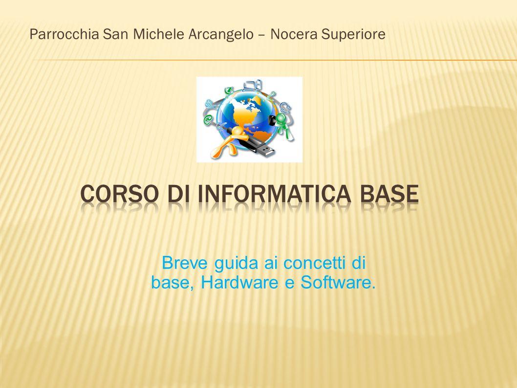 Parrocchia San Michele Arcangelo – Nocera Superiore Breve guida ai concetti di base, Hardware e Software.