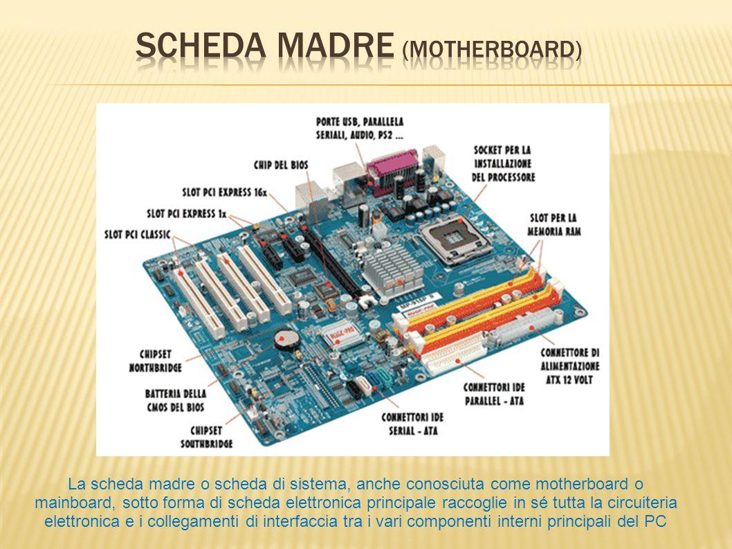 La scheda madre o scheda di sistema, anche conosciuta come motherboard o mainboard, sotto forma di scheda elettronica principale raccoglie in sé tutta