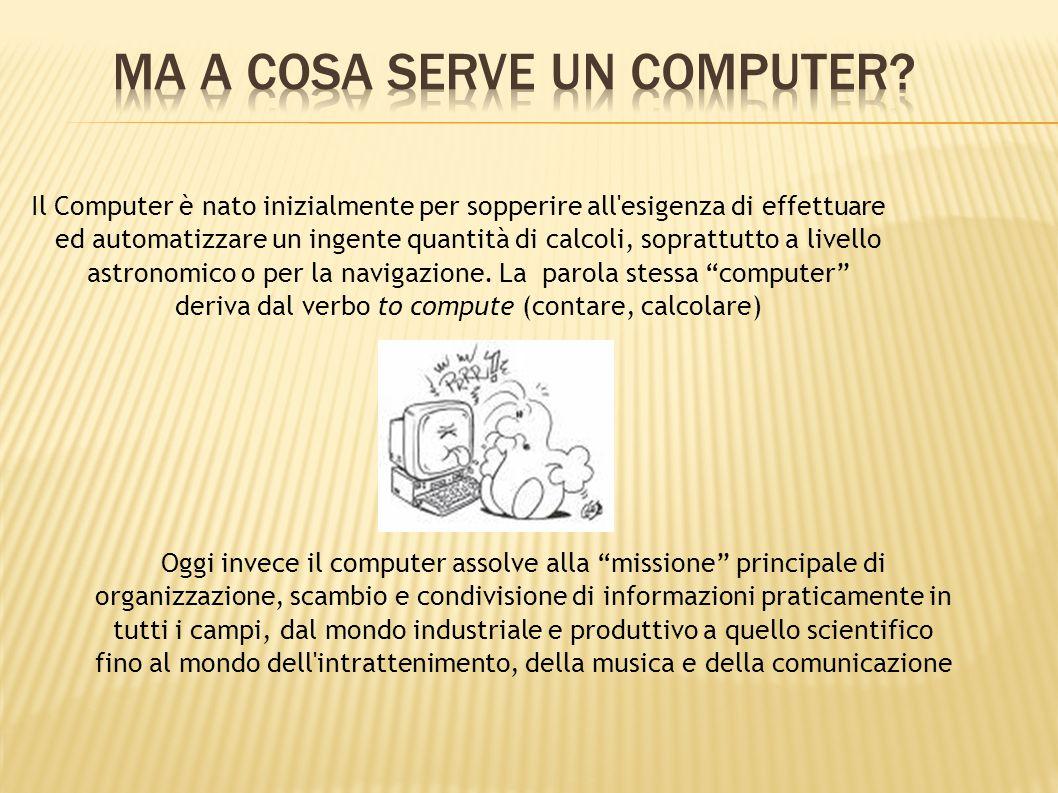 Il Computer così come lo intendiamo oggi ha una storia relativamente breve: Il primo computer digitale fu costruito nel 1946.