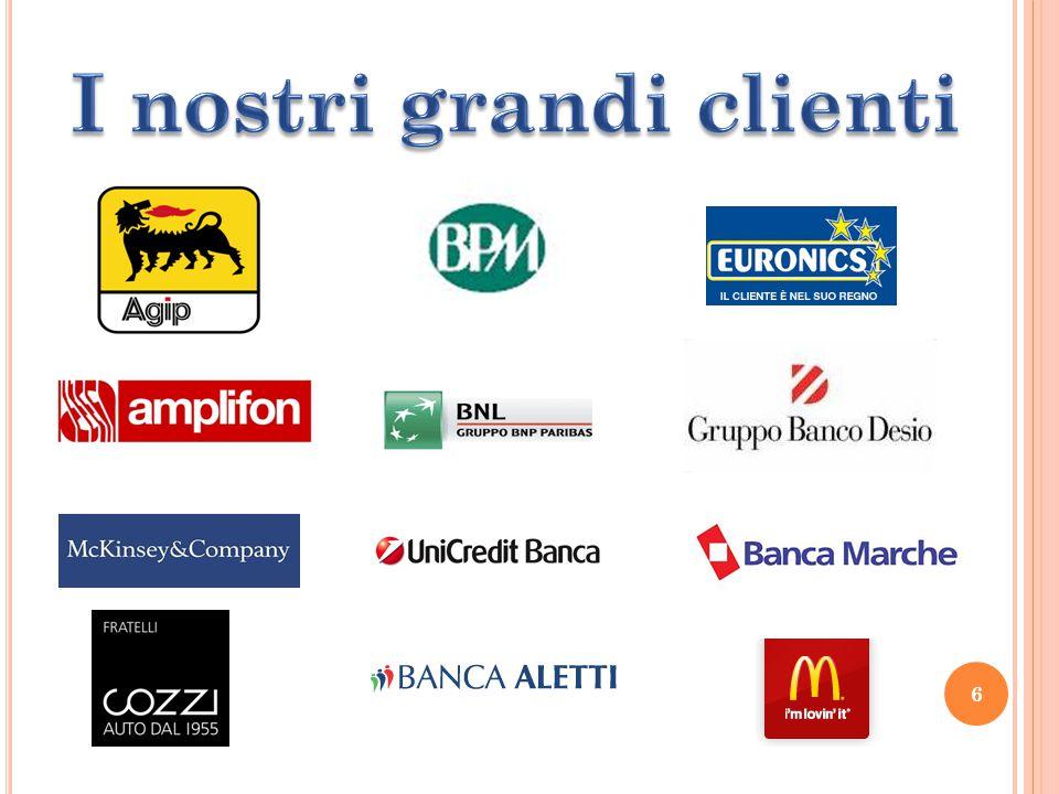 7 Presenza in Italia Oltre 100 partners