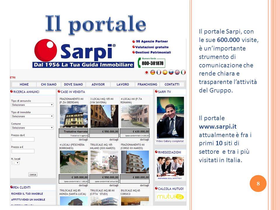 Il portale Sarpi, con le sue 600.000 visite, è un'importante strumento di comunicazione che rende chiara e trasparente l'attività del Gruppo.