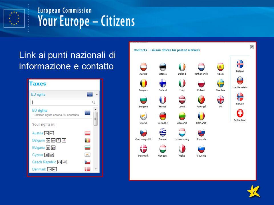 Link ai punti di informazione e contatto nazionali Link ai punti nazionali di informazione e contatto 7