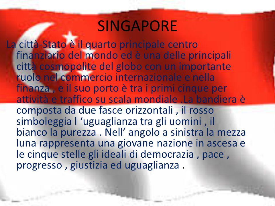 SINGAPORE La città-Stato è il quarto principale centro finanziario del mondo ed è una delle principali città cosmopolite del globo con un importante r