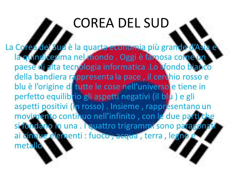 COREA DEL SUD La Corea del Sud è la quarta economia più grande d'Asia e la quindicesima nel mondo. Oggi è famosa come un paese di alta tecnologia info