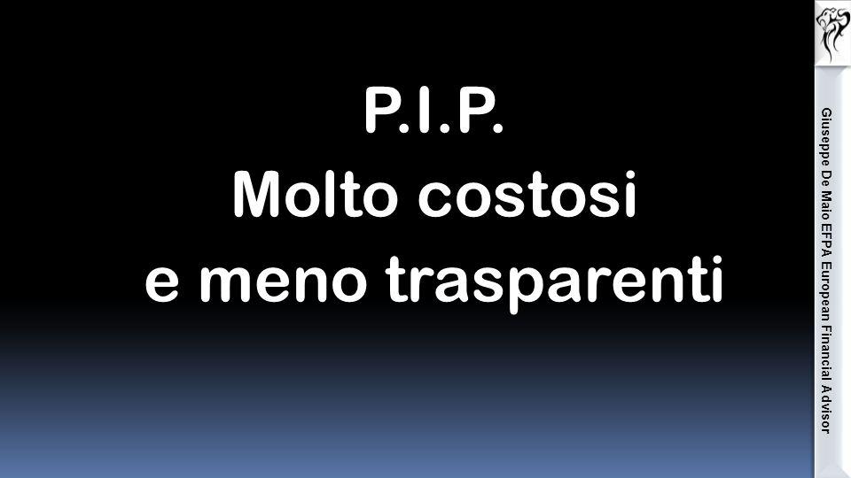 P.I.P. Molto costosi e meno trasparenti Giuseppe De Maio EFPA European Financial Advisor