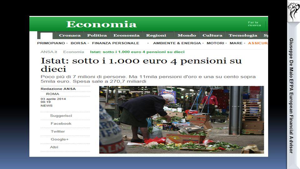Giuseppe De Maio EFPA European Financial Advisor In sintesi: Caso 2