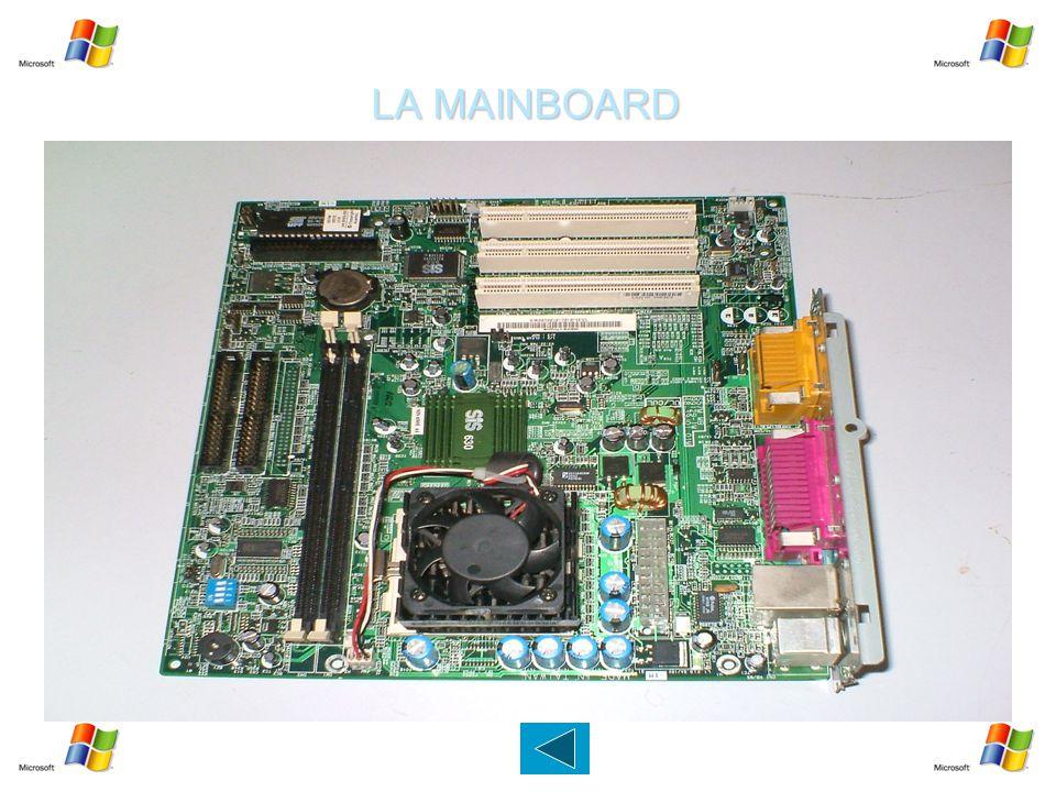 LA MAINBOARD   E' una parte fondamentale di un moderno Personal Computer: raccoglie in sé tutta la circuiteria elettronica di interfaccia fra i vari