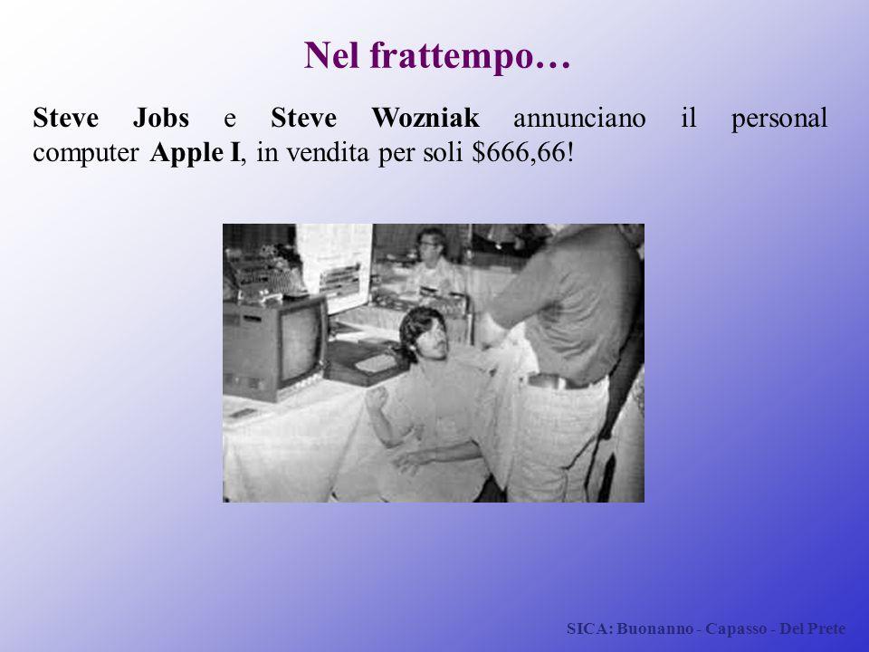 SICA: Buonanno - Capasso - Del Prete Nel frattempo… Steve Jobs e Steve Wozniak annunciano il personal computer Apple I, in vendita per soli $666,66!