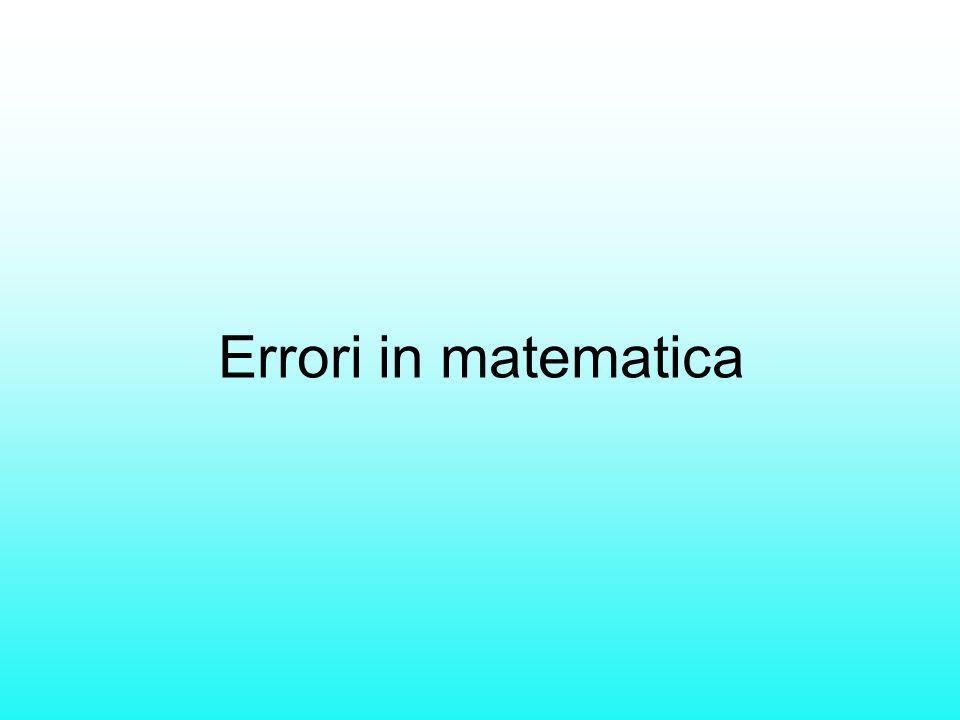 Errori in matematica