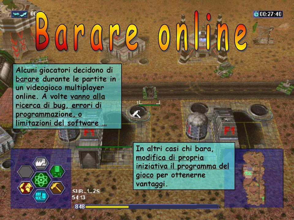 Alcuni giocatori decidono di barare durante le partite in un videogioco multiplayer online.