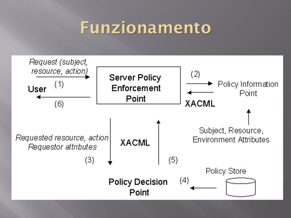 L'elemento è uno strato di astrazione utilizzato dal linguaggio di policy, in quanto ad un PDP conforme, non è necessario istanziare realmente il contesto di richiesta sottoforma di documento XML.
