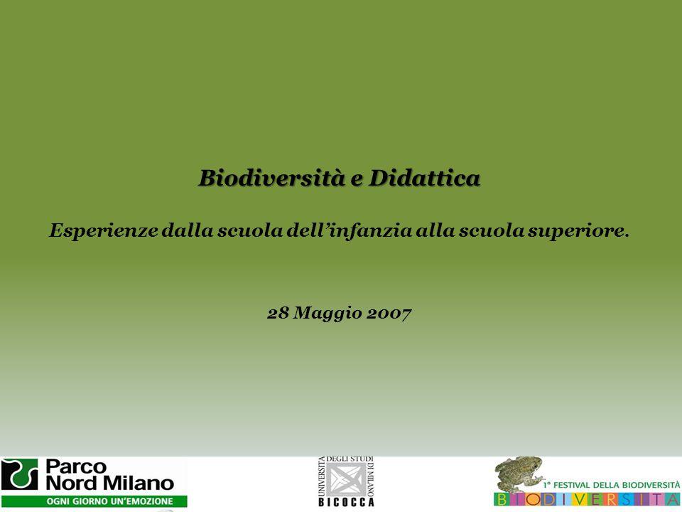 Biodiversità e Didattica Esperienze dalla scuola dell'infanzia alla scuola superiore.