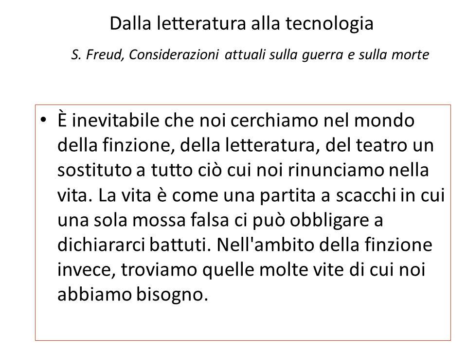 Dalla letteratura alla tecnologia S.