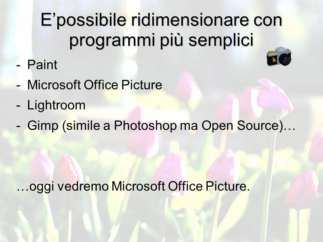 BASI TECNICHE TRATTAMENTO con Photoshop Come ridimensionare le immagini.