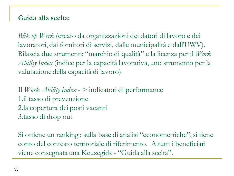Guida alla scelta: Blik op Werk (creato da organizzazioni dei datori di lavoro e dei lavoratori, dai fornitori di servizi, dalle municipalità e dall'U