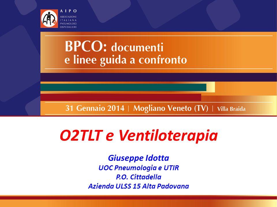 O2TLT e Ventiloterapia Giuseppe Idotta UOC Pneumologia e UTIR P.O. Cittadella Azienda ULSS 15 Alta Padovana