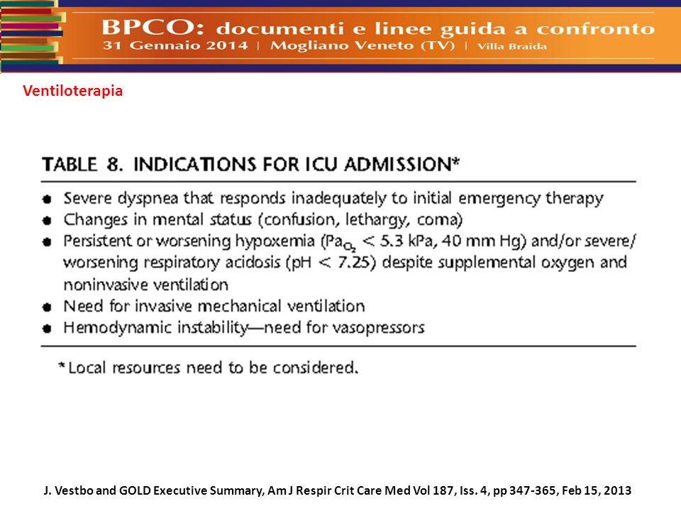 J.Vestbo and GOLD Executive Summary, Am J Respir Crit Care Med Vol 187, Iss.
