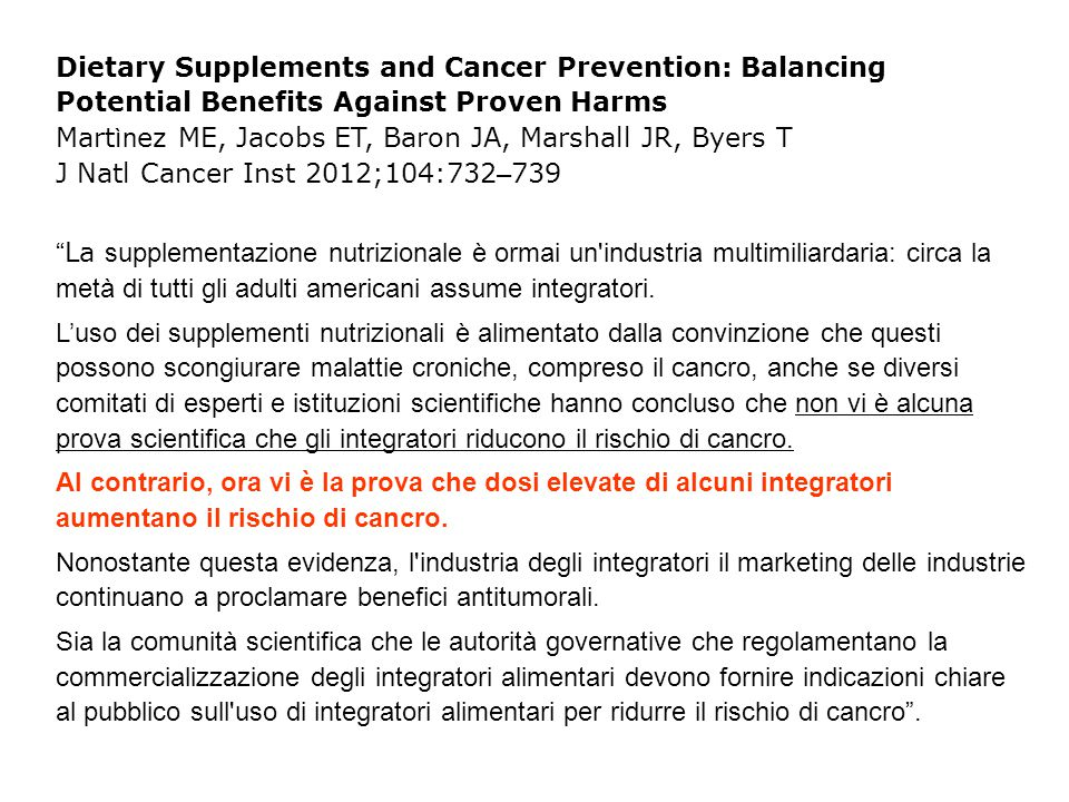 Risk Factors for Lung Cancer and for Intervention Effects in CARET, the Beta-Carotene and Retinol Efficacy Trial Omenn GS et al, J Natl Cancer Inst; 88:1550-9, 1996