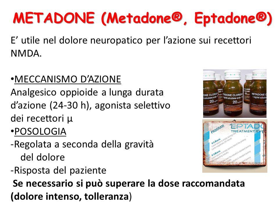 E' utile nel dolore neuropatico per l'azione sui recettori NMDA.