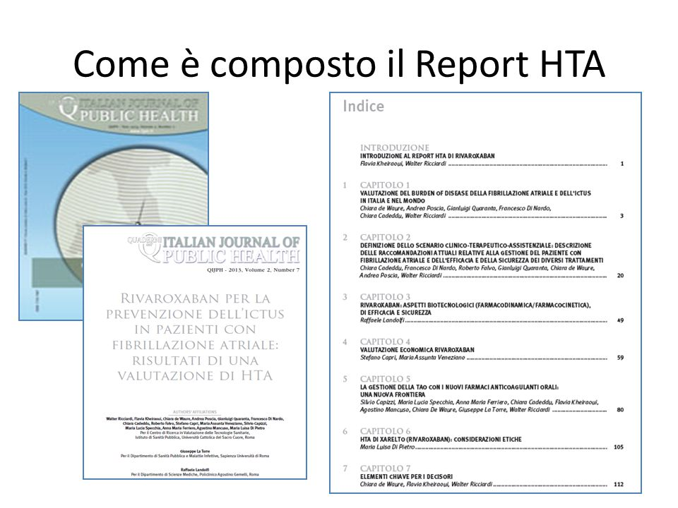 Come è composto il Report HTA
