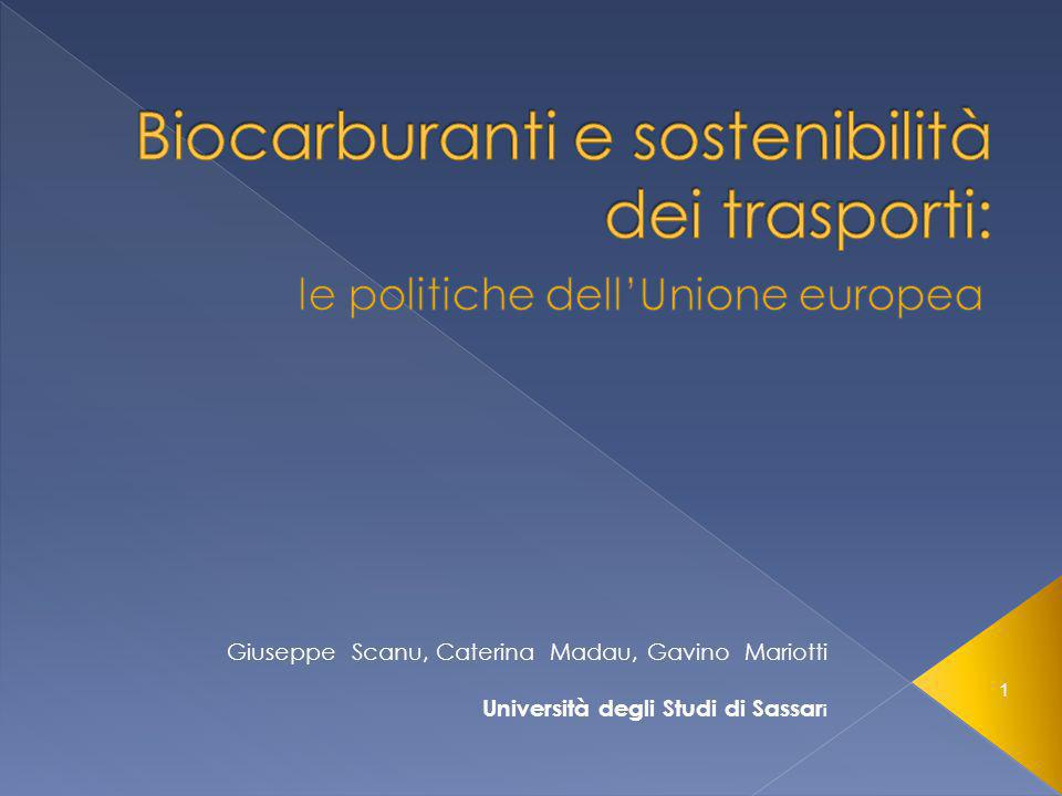 1 Giuseppe Scanu, Caterina Madau, Gavino Mariotti Università degli Studi di Sassar i