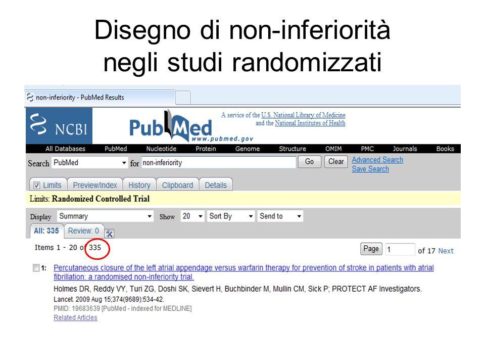 Disegno di non-inferiorità negli studi randomizzati