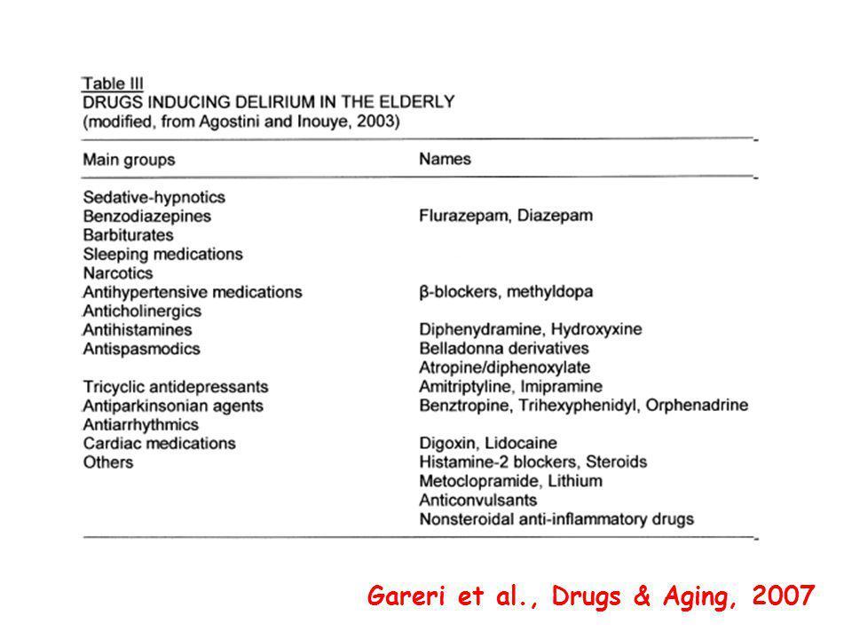 Gareri et al., Drugs & Aging, 2007