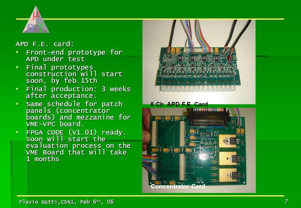 Flavio Gatti,CSN1, Feb 6 th, 06 8 32x 8x Geneal view of the APD electronics and cabling
