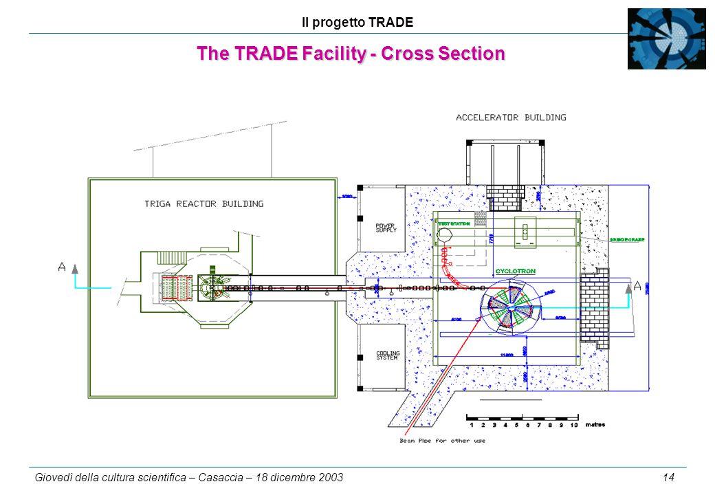 Il progetto TRADE Giovedì della cultura scientifica – Casaccia – 18 dicembre 2003 14 The TRADE Facility - Cross Section