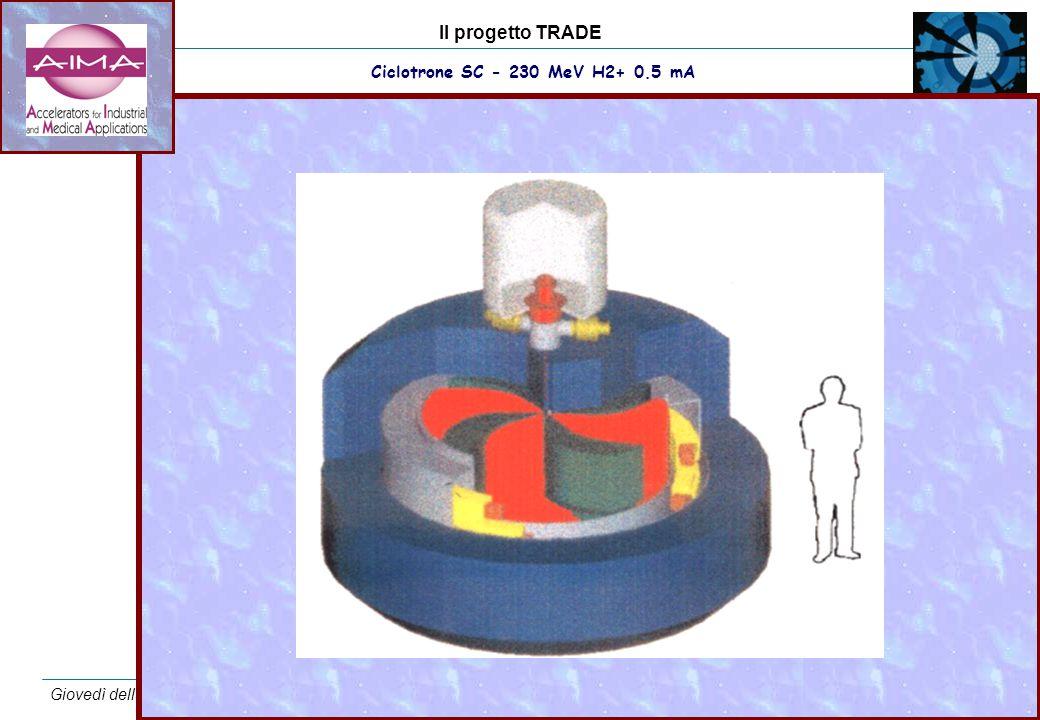Il progetto TRADE Giovedì della cultura scientifica – Casaccia – 18 dicembre 2003 17 Ciclotrone SC - 230 MeV H2+ 0.5 mA