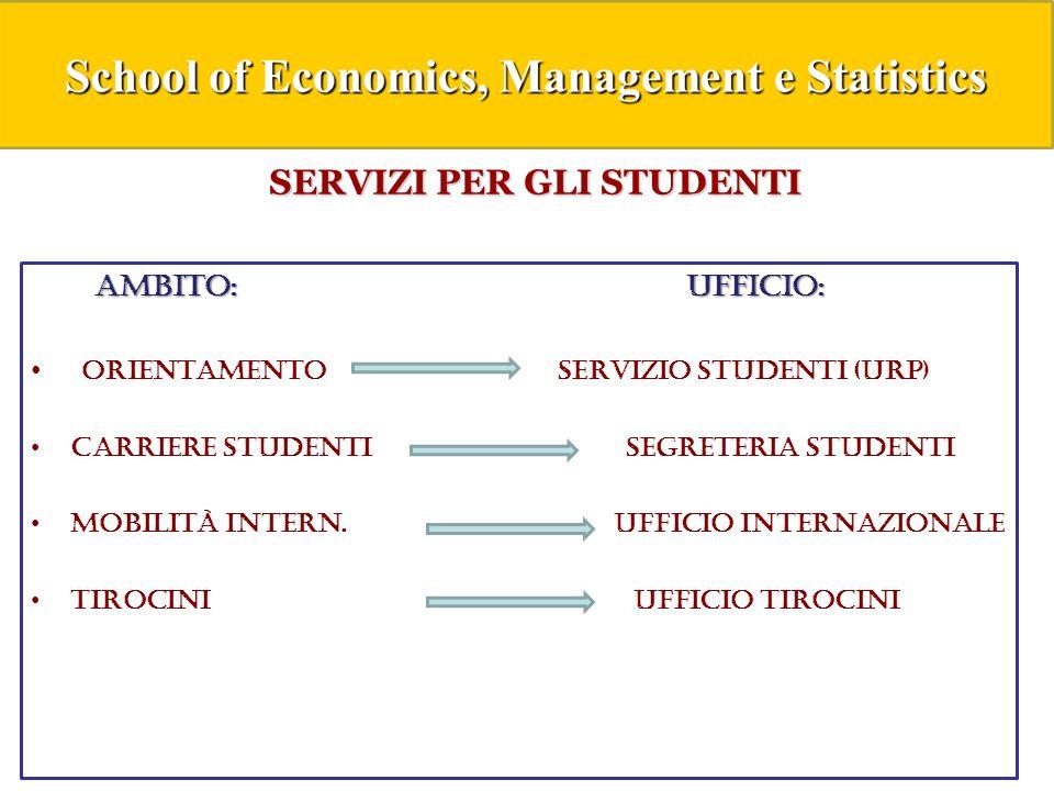 Un importante strumento : STUDENTI ON LINE Studenti Online è uno spazio riservato agli studenti Unibo che permette di svolgere comodamente online le procedure utili durante il percorso universitario, dall immatricolazione fino alla laurea.
