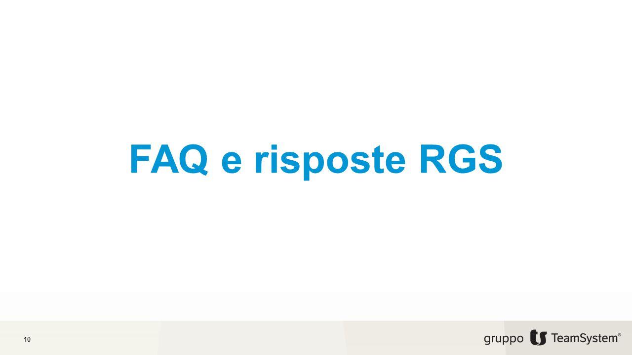 FAQ e risposte RGS 10