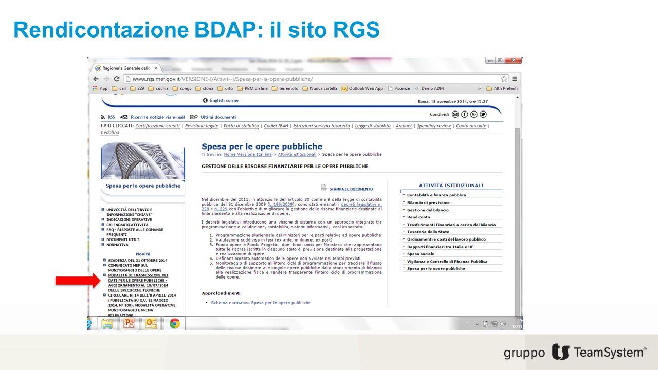 Rendicontazione BDAP: specifiche tecniche 6