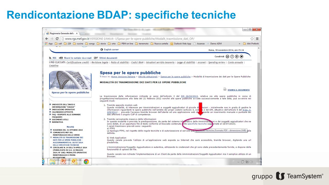 Rendicontazione BDAP: specifiche tecniche 6