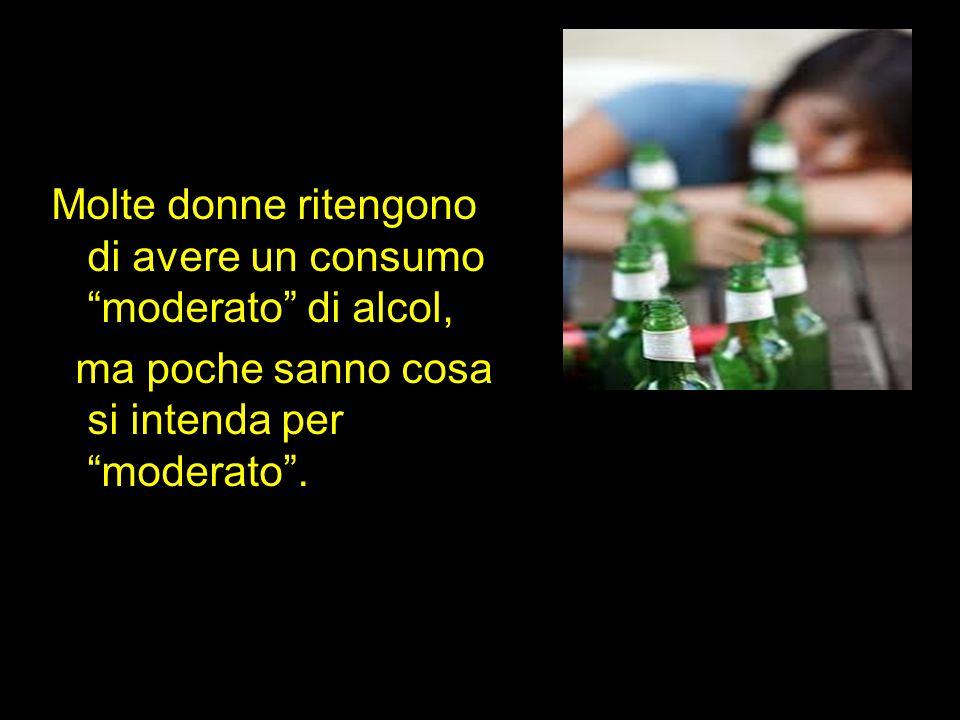 Molte donne ritengono di avere un consumo moderato di alcol, ma poche sanno cosa si intenda per moderato .