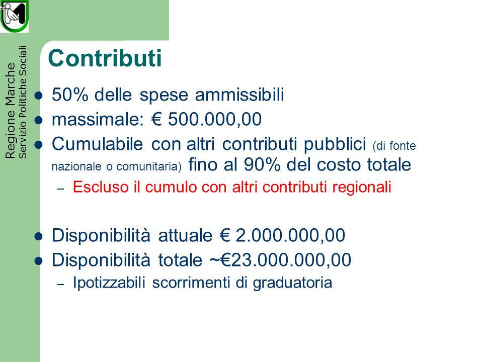 Regione Marche Servizio Politiche Sociali Decorrenza spese Dal 01/01/2007 Al 31/12/2013 Termine di conclusione degli interventi Come da accordo di programma