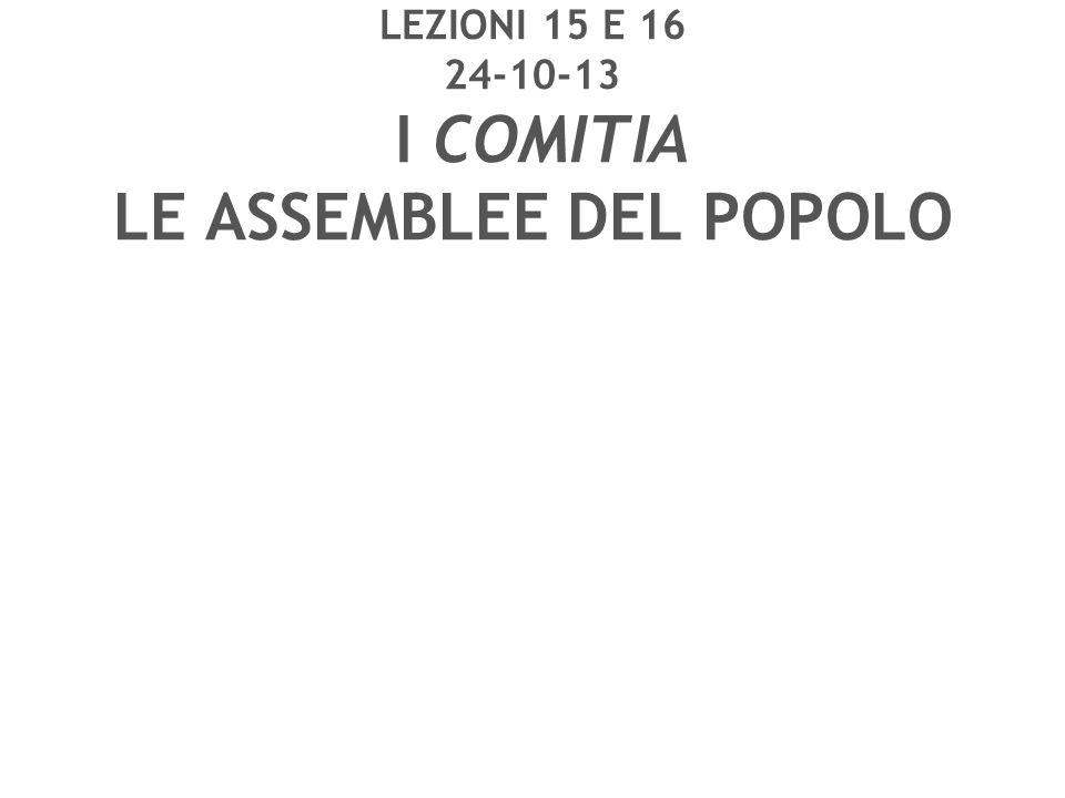 LE ASSEMBLEE DEL POPOLO dall'VIII sec.a.C. al I sec.