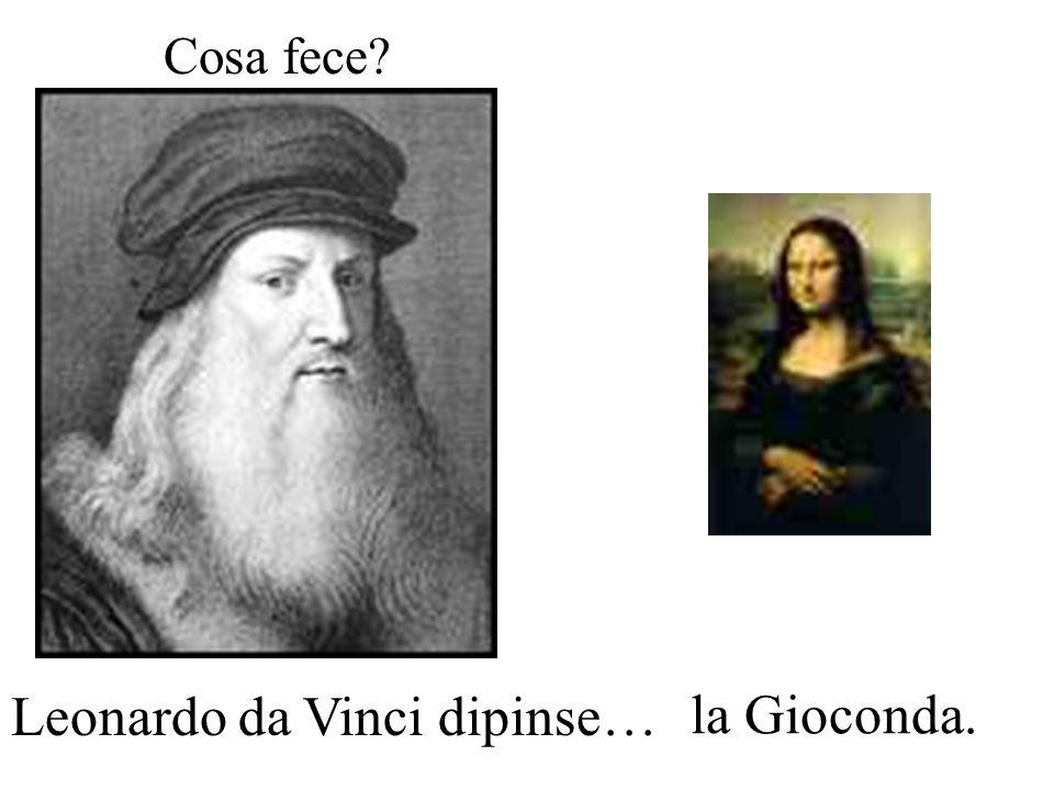 Cosa fece? Michelangelo Buonarroti scolpì…. il Davide.