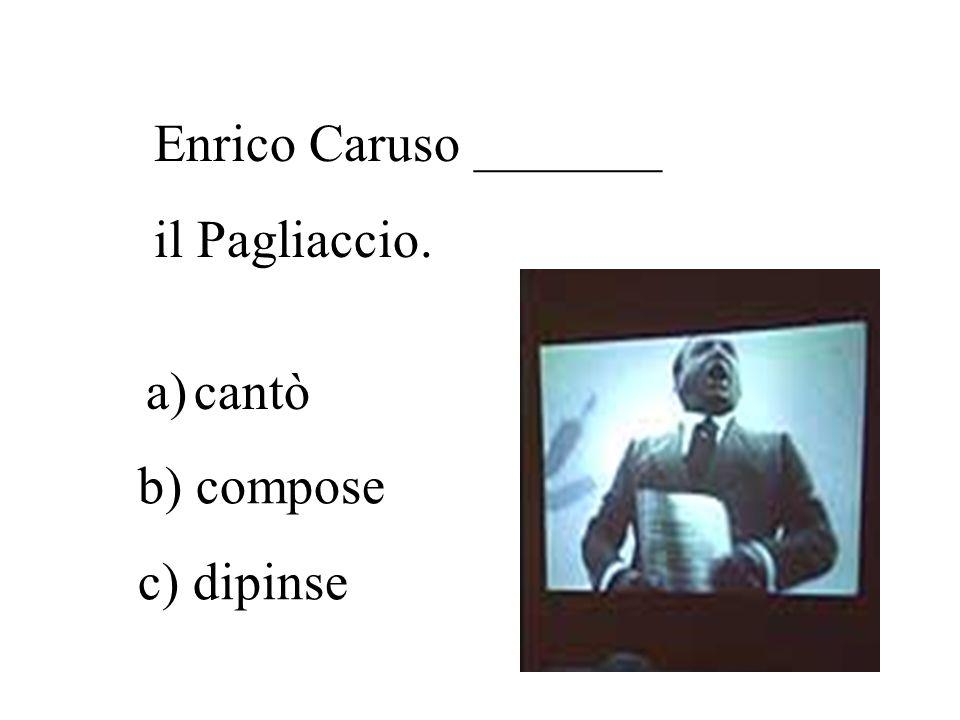 Giuseppe Verdi _______ l'Aida. b) compose
