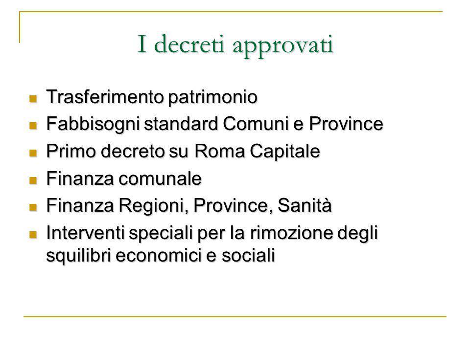 Spesa in conto capitale, perequazione infrastrutturale e interventi speciali Spesa in conto capitale.