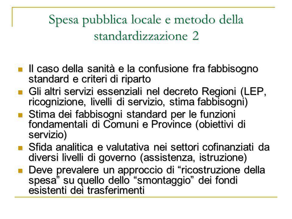 La proposta del PD Una posizione equilibrata, che integra gli interventi volti alla riduzione dei divari strutturali con i nuovi meccanismi perequativi previsti dalla Costituzione e dalla L.