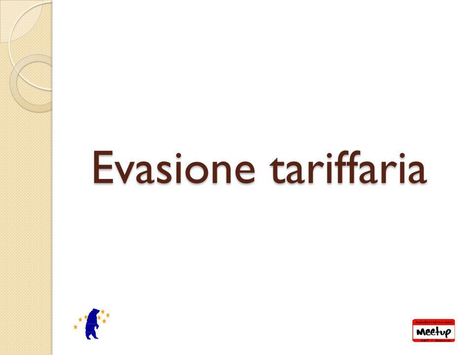 Evasione tariffaria