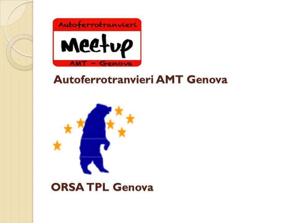 Autoferrotranvieri AMT Genova ORSA TPL Genova